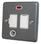 Standard Plate Pewter Fused Spur Switches